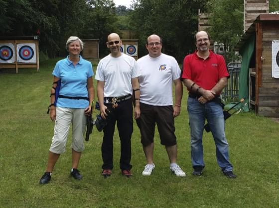 Martine, Philippe, Sylvain et David